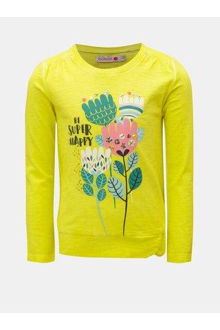 Žluté holčičí tričko s flitry a potiskem BÓBOLI