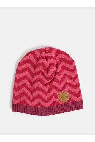 Tmavě růžová holčičí vlněná vzorovaná čepice Reima Kolmio