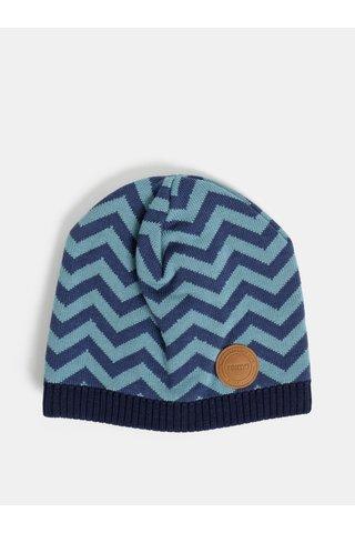 Tmavě modrá dětská vlněná vzorovaná čepice Reima Kolmio