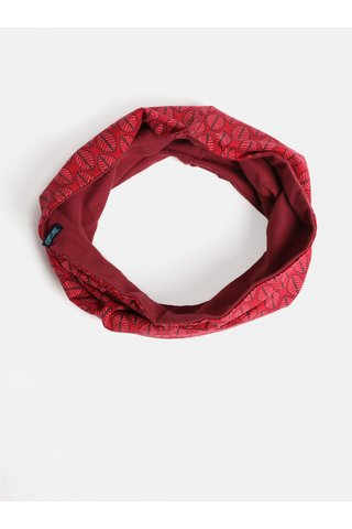 Esarfa circulara rosie cu model Tranquillo Devana