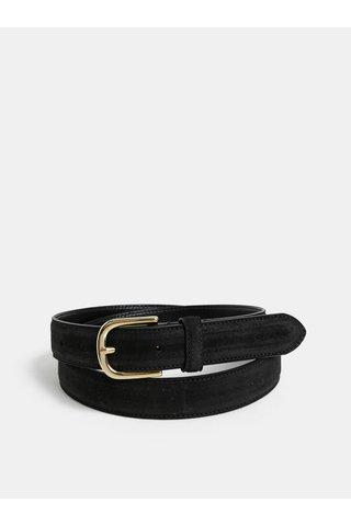 Černý dámský kožený pásek GANT