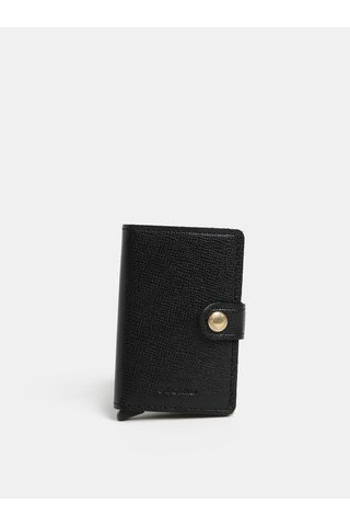 Černá pánská kožená peněženka s hliníkovým pouzdrem s RFID Secrid Miniwallet Crisple