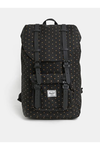 Černý vzorovaný batoh Herschel Little America Mid 17 l