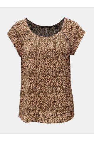 Tricou verde-roz cu print leopard Scotch & Soda