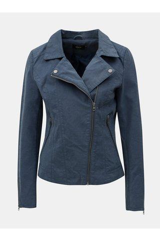 Jacheta biker albastra din piele sintetica ONLY Saga