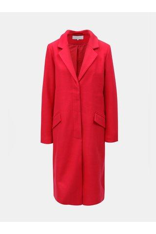Červený kabát s příměsí vlny VILA