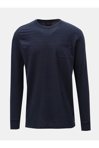 Tricou albastru inchis cu maneci lungi Jack & Jones Larry