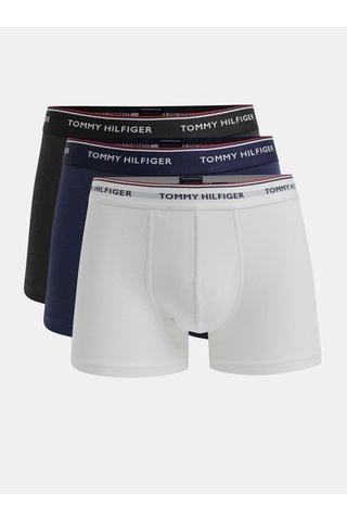 Set de 3 boxeri albastri, negri si albi Tommy Hilfiger