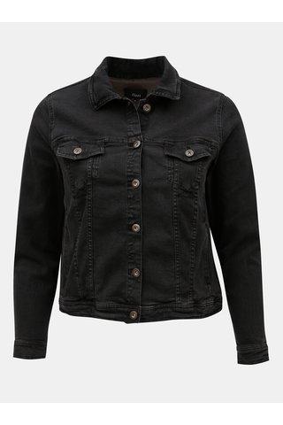 Jacheta neagra crop din denim Zizzi Manais