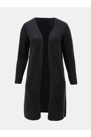 Cardigan gri inchis cu amestec de lana Zizzi Camilla