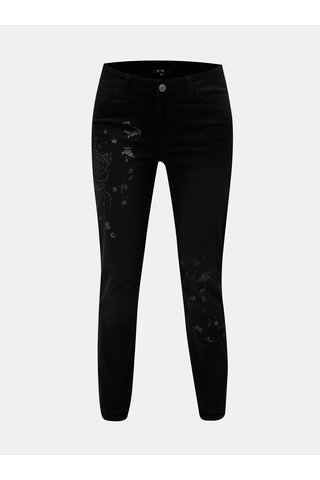 Černé slim džíny s potiskem Yest