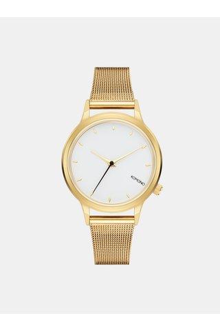 Dámské hodinky ve zlaté barvě s bílým ciferníkem Komono Lexi Royale