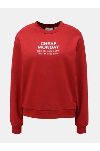 Bluza sport de dama rosie cu print Cheap Monday