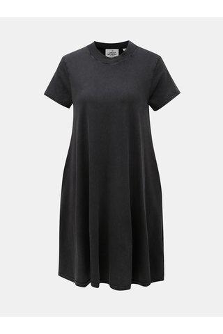 Tmavě šedé áčkové šaty Cheap Monday