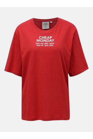 Červené tričko s potiskem Cheap Monday