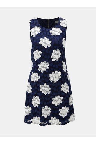 Rochie albastru inchis cu dantela din plasa Apricot