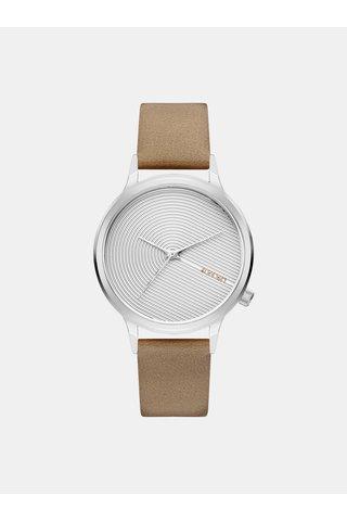 Dámské hodinky s béžovým koženým páskem Komono Lexo Deco