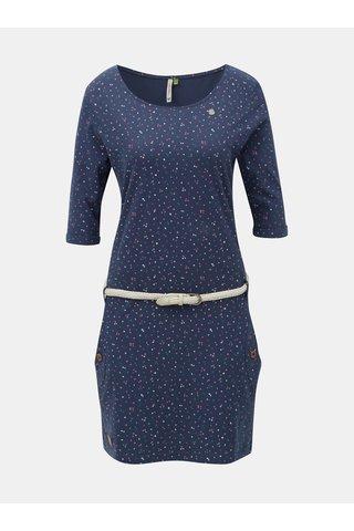 Rochie albastru inchis cu model si buzunare Ragwear Tanya Organic