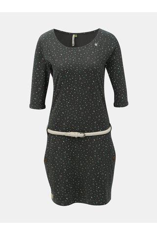 Rochie verde inchis cu model si buzunare Ragwear Tanya Organic