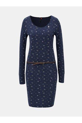 Rochie albastra cu model si curea Ragwear