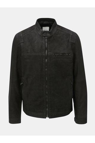 Jacheta neagra din piele ONLY & SONS Sander