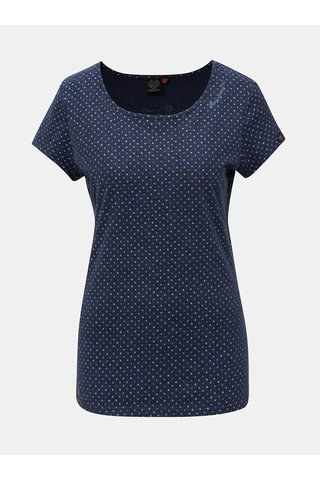 Tricou de dama albastru cu model Ragwear