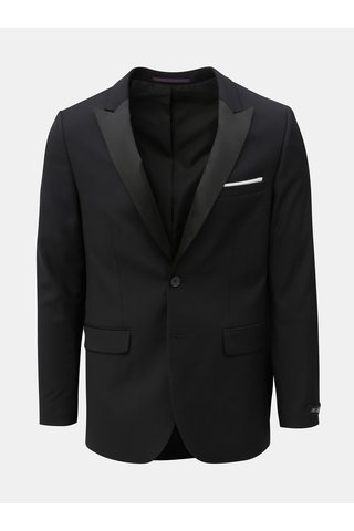 Sacou formal negru skinny fit Burton Menswear London