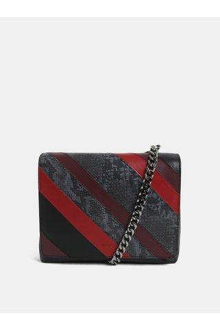 Červeno-černá kožená kabelka se vzorem BREE Issia