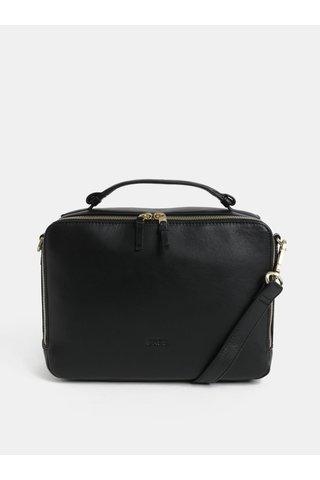 Černá kožená kabelka s odnímatelným popruhem BREE Nieva 2