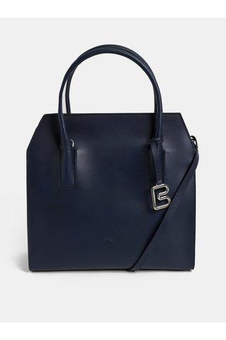 Tmavě modrá kožená kabelka BREE Cambridche