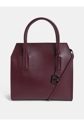 Vínová kožená kabelka BREE Cambridche