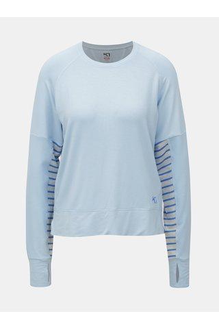 Tricou functional albastru deschis cu maneci lungi Kari Traa