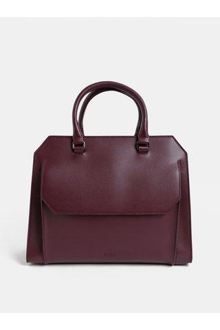 Vínová kožená kabelka s kapsou BREE Cambridge