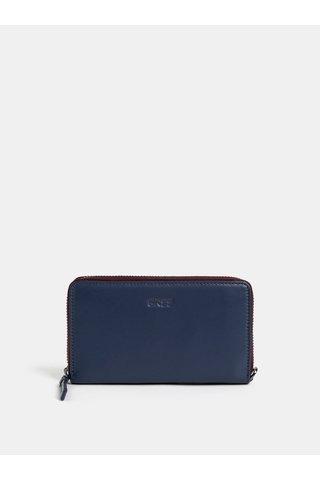 Tmavě modrá kožená malá peněženka BREE Issy 134