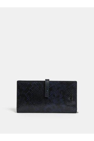 Černá kožená vzorovaná peněženka BREE Issy