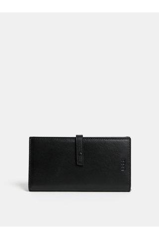 Černá kožená peněženka BREE Issy