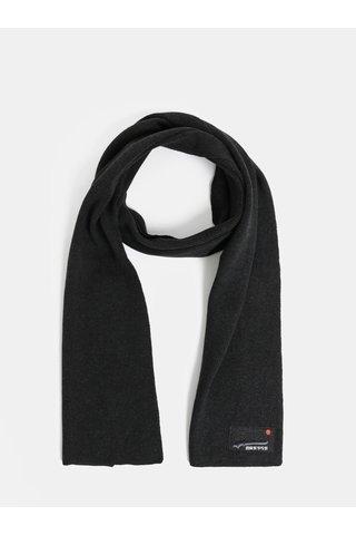 Fular barbatesc negru Superdry