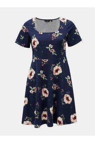 Rochie albastru inchis florala Dorothy Perkins Curve