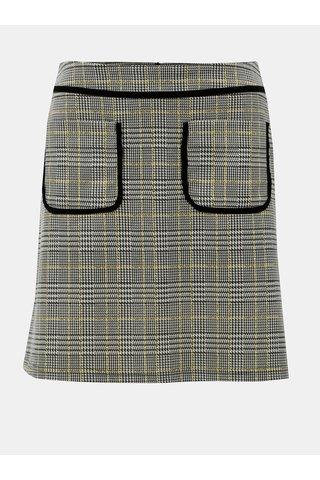Šedá károvaná sukně Dorothy Perkins