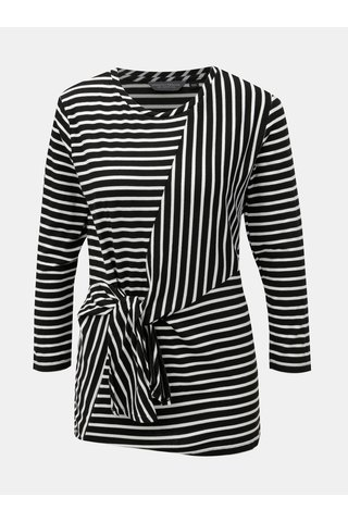 Tricou alb-negru in dungi cu nod Dorothy Perkins Tall