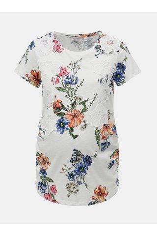 Tricou alb floral cu dantela pentru femei insarcinate Dorothy Perkins Maternity