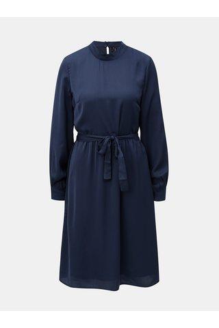 Rochie albastru inchis cu maneci lungi VERO MODA Billia