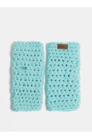 Tyrkysové pletené návleky na ruce DOKE