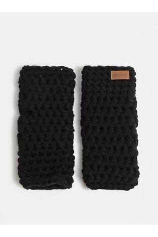 Černé pletené návleky na ruce DOKE