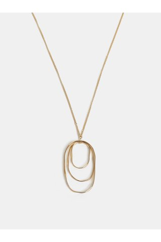 Colier auriu oval Pieces Kalia