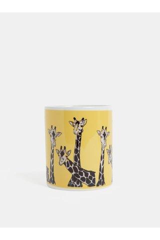 Žlutý hrnek s motivem žiraf Butter Kings
