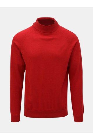 Helanca rosie din lana Merino Selected Homme Newblade