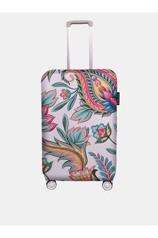 Husa valiza roz deschis cu imprimeu Maroko Butter Kings