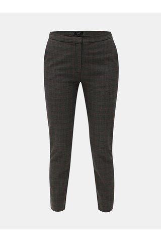 Pantaloni crop gri inchis in carouri Selected Femme Musu