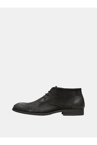 Pantofi barbatesti negri din piele Selected Homme Colin